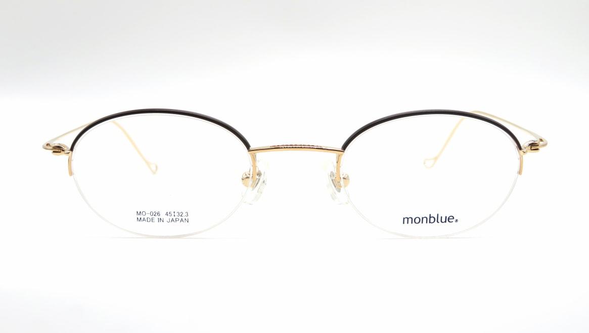 モンブルー MO-026-11-45 [メタル/鯖江産/ハーフリム/オーバル]