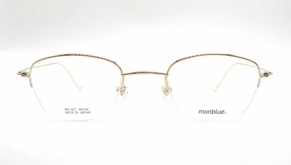 モンブルー MO-027-1-46 [メタル/鯖江産/ハーフリム/スクエア/ゴールド]