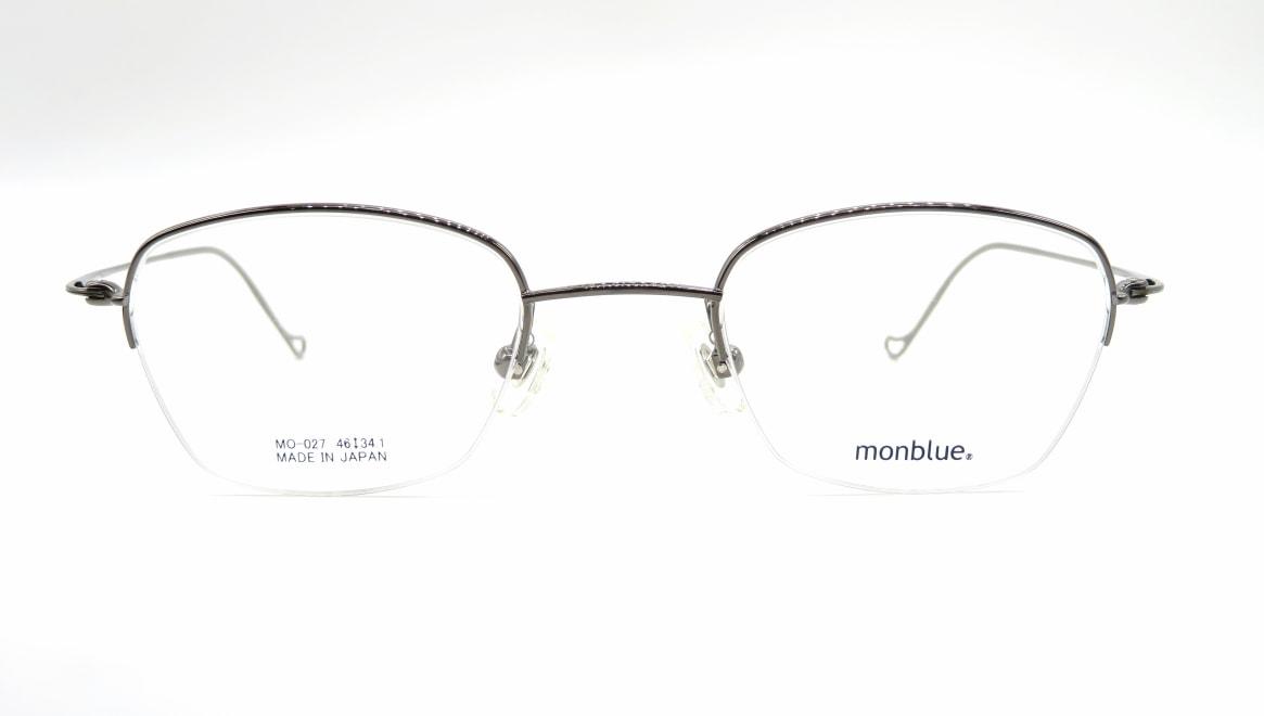 モンブルー MO-027-5-46 [メタル/鯖江産/ハーフリム/スクエア]