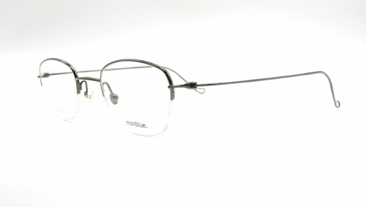 モンブルー MO-027-5-46 [メタル/鯖江産/ハーフリム/スクエア]  1