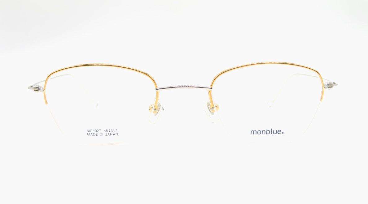 モンブルー MO-027-7-46 [メタル/鯖江産/スクエア/ゴールド]