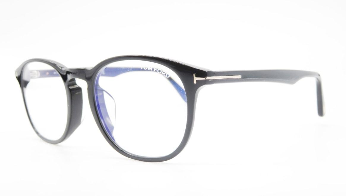 トムフォード FT5680FB AsianFit BLUE BLOCK FILTER-001-52 [黒縁/鯖江産/オーバル]  1