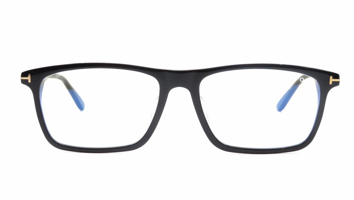 トムフォード FT5681FB AsianFit BLUE BLOCK FILTER-001-56 [黒縁/スクエア]