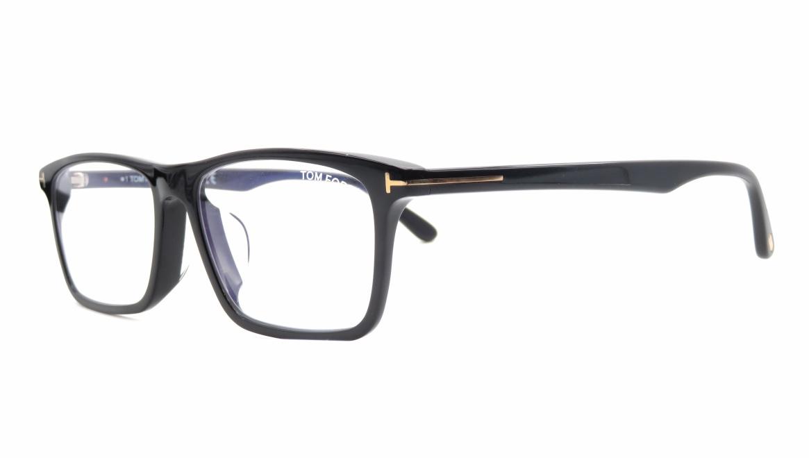 トムフォード FT5681FB AsianFit BLUE BLOCK FILTER-001-56 [黒縁/スクエア]  1