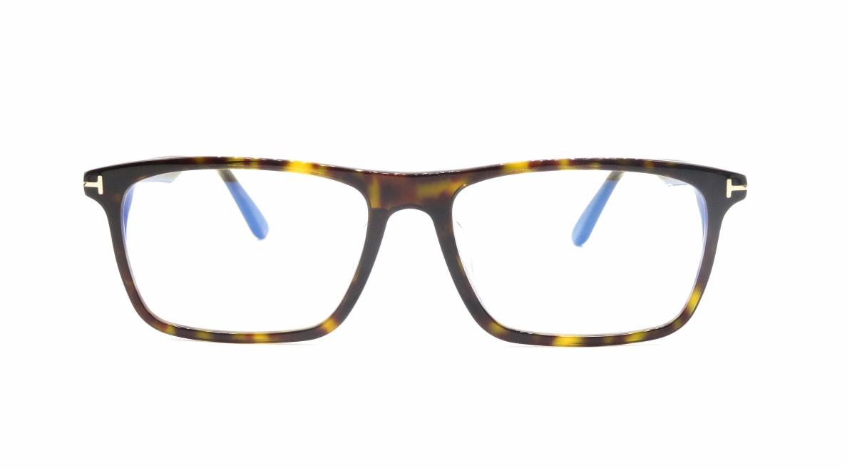 トムフォード FT5681FB AsianFit BLUE BLOCK FILTER-052-56 [スクエア/べっ甲柄]