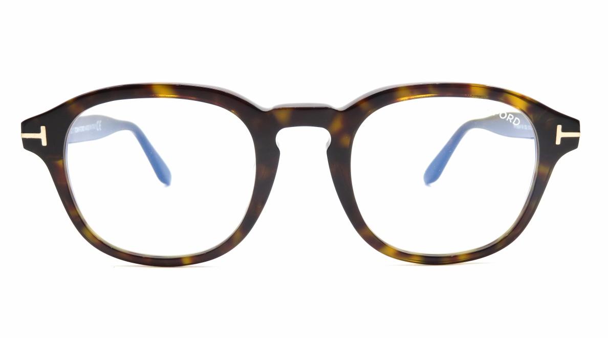 トムフォード FT5698FB AsianFit BLUE BLOCK FILTER-052-50 [ウェリントン/べっ甲柄]