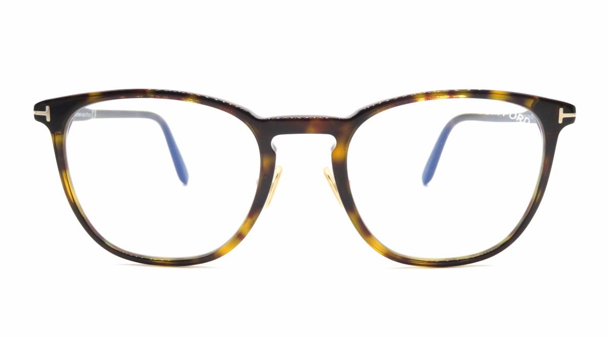 トムフォード FT5700B BLUE BLOCK FILTER-052-52 [ウェリントン/べっ甲柄]