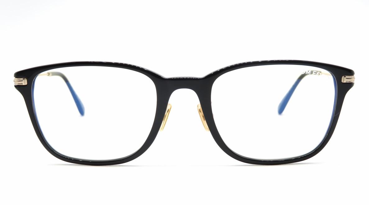 トムフォード FT5715FB AsianFit BLUE BLOCK FILTER-005-53 [黒縁/ウェリントン]