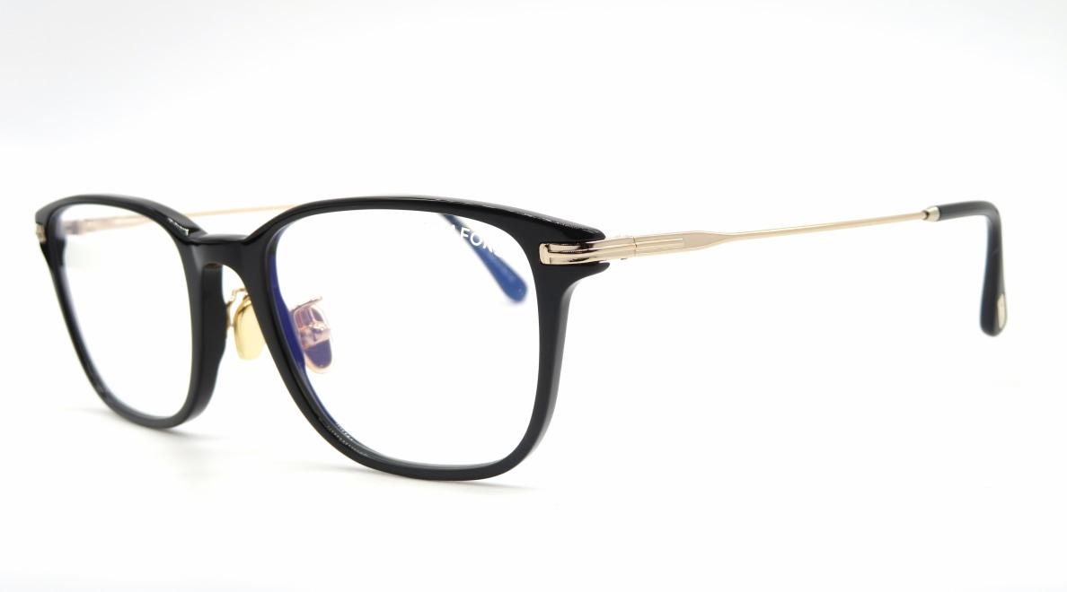 トムフォード FT5715FB AsianFit BLUE BLOCK FILTER-005-53 [黒縁/ウェリントン]  1