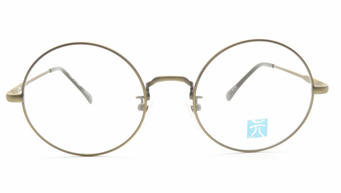 元 265-atg-52 [メタル/鯖江産/丸メガネ/ゴールド]