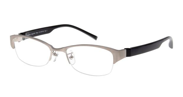 【送料無料】プラスオーエムジー ビジネス グレッグ omg-040-1-51 メガネ(眼鏡) スクエア plus-omg-business-omg-040-1-51 シルバー 銀 セルフレーム ハーフリム +omg Business 度付き 伊達メガネ 即日発送 メンズ