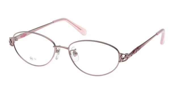 【送料無料】家メガネレンズセット 50-005-50-1 メガネ(眼鏡) オーバル ie-megane-lensset-50-005-50-1 ピンク 桃 メタルフレーム フルリム ie-megane-lensset 度付き 伊達メガネ 即日発送 レディース