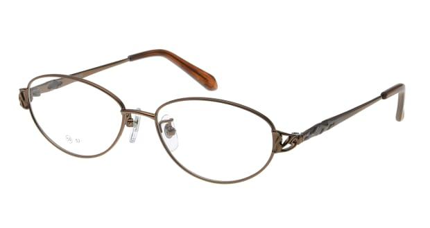 【送料無料】家メガネレンズセット 50-005-50-3 メガネ(眼鏡) オーバル ie-megane-lensset-50-005-50-3 ブラウン 茶 メタルフレーム フルリム ie-megane-lensset 度付き 伊達メガネ 即日発送 ユニセックス