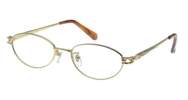 【送料無料】家メガネレンズセット 50-007-48-2 メガネ(眼鏡) オーバル ie-megane-lensset-50-007-48-2 ゴールド 金 メタルフレーム フルリム ie-megane-lensset 度付き 伊達メガネ 即日発送 レディース