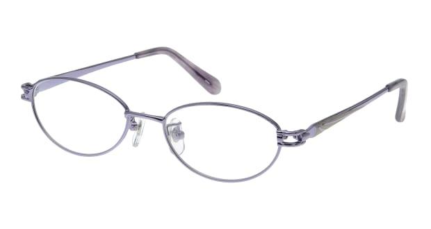 【送料無料】家メガネレンズセット 50-007-48-3 メガネ(眼鏡) オーバル ie-megane-lensset-50-007-48-3 パープル 紫 メタルフレーム フルリム ie-megane-lensset 度付き 伊達メガネ 即日発送 レディース