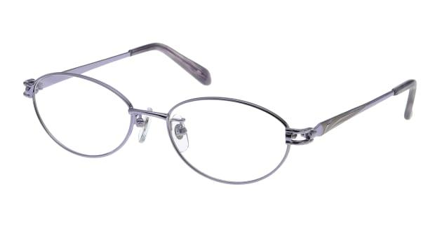【送料無料】家メガネレンズセット 50-007-50-3 メガネ(眼鏡) オーバル ie-megane-lensset-50-007-50-3 パープル 紫 メタルフレーム フルリム ie-megane-lensset 度付き 伊達メガネ 即日発送 レディース