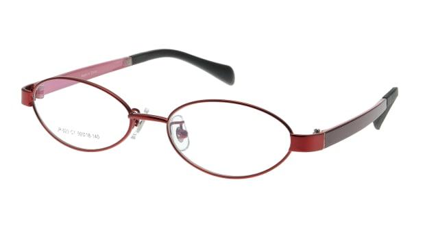 【送料無料】家メガネレンズセット JP-023-1 メガネ(眼鏡) オーバル ie-megane-lensset-jp-023-1 レッド 赤 セルフレーム フルリム ie-megane-lensset 度付き 伊達メガネ 即日発送 レディース