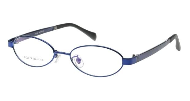【送料無料】家メガネレンズセット JP-023-4 メガネ(眼鏡) オーバル ie-megane-lensset-jp-023-4 ブルー 青 セルフレーム フルリム ie-megane-lensset 度付き 伊達メガネ 即日発送 ユニセックス