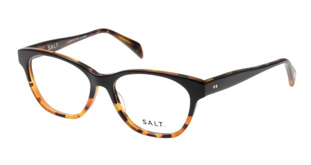 【送料無料】ソルト LISA-BKHN-49 メガネ(眼鏡) ウェリントン salt-lisa-bkhn-49 べっ甲柄 セルフレーム フルリム SALT. 度付き 伊達メガネ 即日発送 ユニセックス