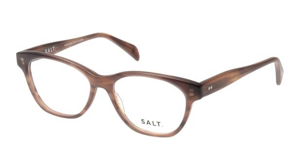 【送料無料】ソルト LISA-MCDR-49 メガネ(眼鏡) オーバル salt-lisa-mcdr-49 ブラウン 茶 セルフレーム フルリム SALT. 度付き 伊達メガネ 即日発送 ユニセックス