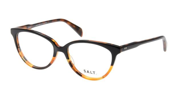 【送料無料】ソルト ANNETTE-BKHN-50 メガネ(眼鏡) フォックス salt-annette-bkhn-50 ブラウン 茶 セルフレーム フルリム SALT. 度付き 伊達メガネ 即日発送 ユニセックス