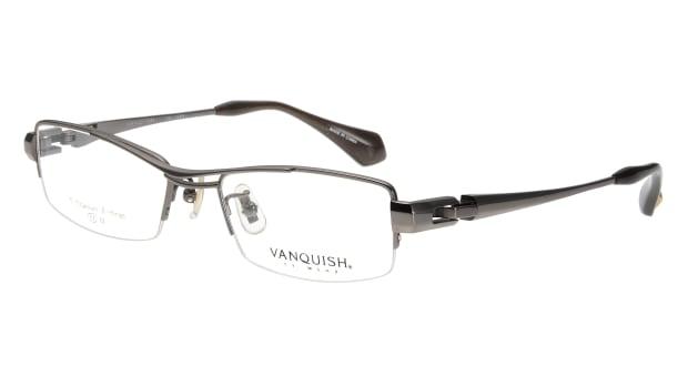 【送料無料】ヴァンキッシュ VQ-1046-C-2-GR メガネ(眼鏡) スクエア vanquish-vq-1042-c-2-gr グレー 灰 メタルフレーム ハーフリム ..