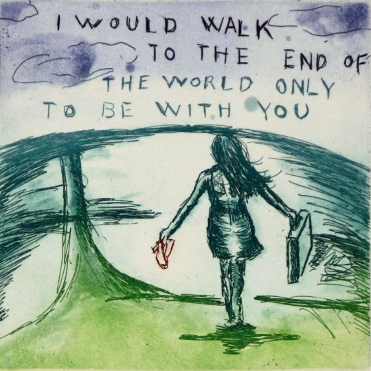 I would walk to the end of the world... by Bjørg Thorhallsdottir | onArts