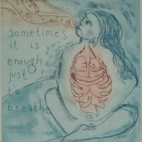 Sometimes it is just enough just to breathe by Bjørg Thorhallsdottir | onArts