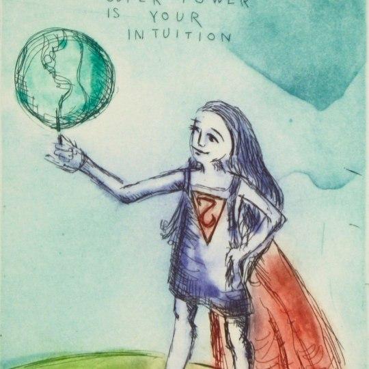 Your secret super power is your intuition by Bjørg Thorhallsdottir | onArts