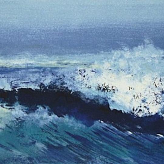 Blått hav by Ole Ertzeid | onArts