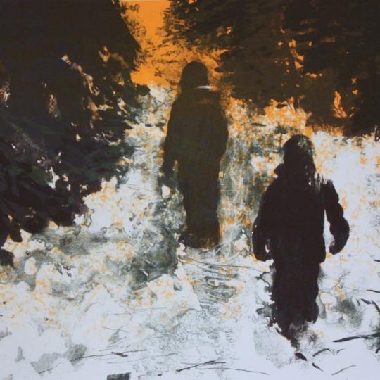 Søstre i snø by Lars Elling | onArts