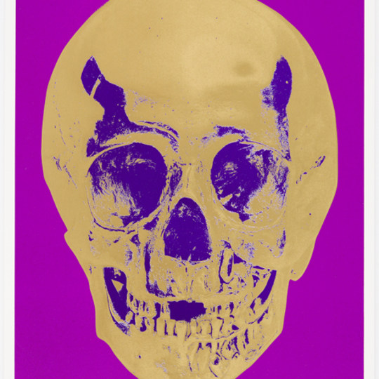 Till death do us apart - Purple Skull by Damien Hirst | onArts
