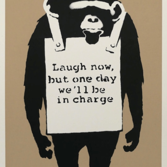 Laugh Now by Banksy | onArts