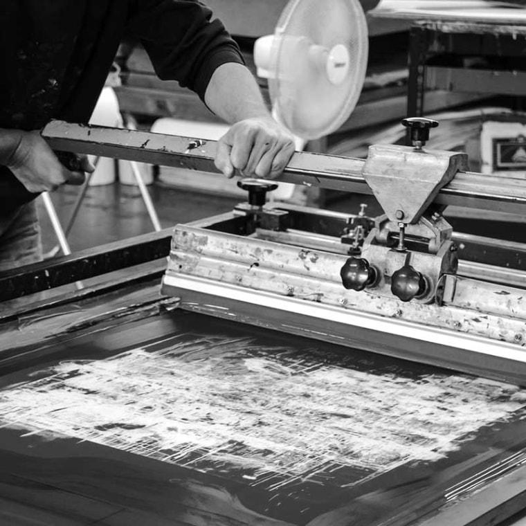 About the screenprinting/silkscreen technique and process - onArts Print Studio