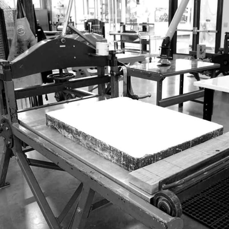 About stone litography technique - onArts Print Studio