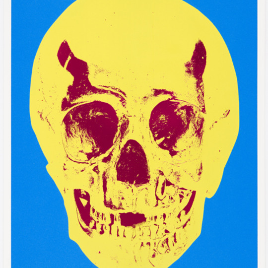 Till death do us apart - Cerulan Blue Skull by Damien Hirst | onArts