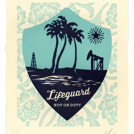 Lifeguard Not On Duty by Obey Giant / Shepard Fairey | onArts
