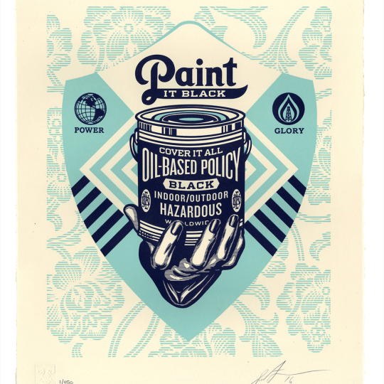 Paint It Black by Obey Giant / Shepard Fairey   onArts