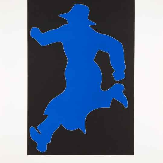 Mr.Walker Running (Black/Blue) by Jan Håfström | onArts