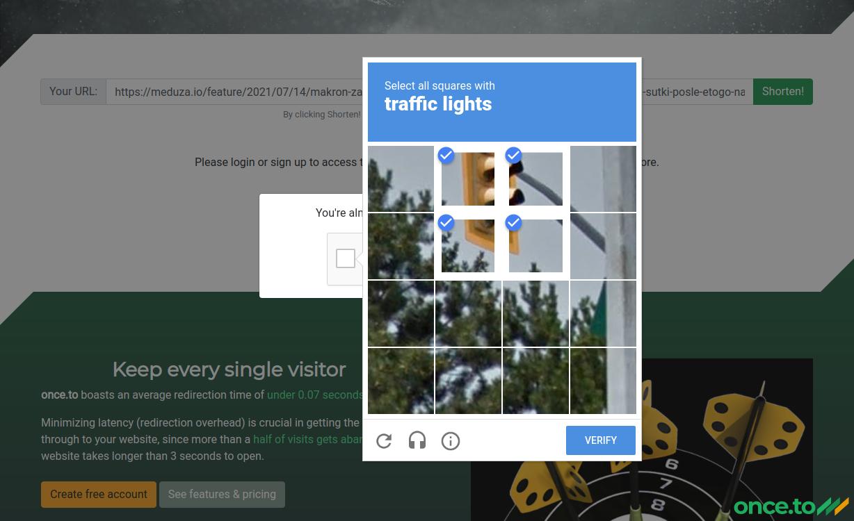 Solving reCAPTCHA after URL submission.