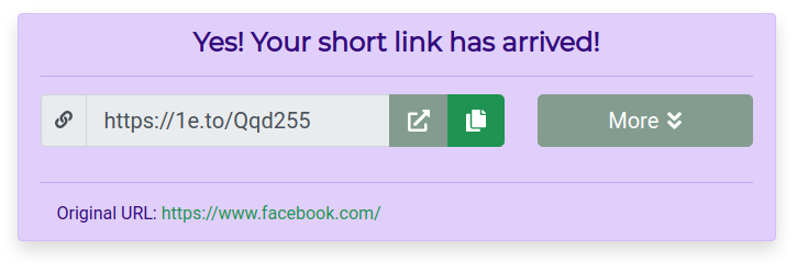 Shortened link after unwrapping redirects to facebook.com.