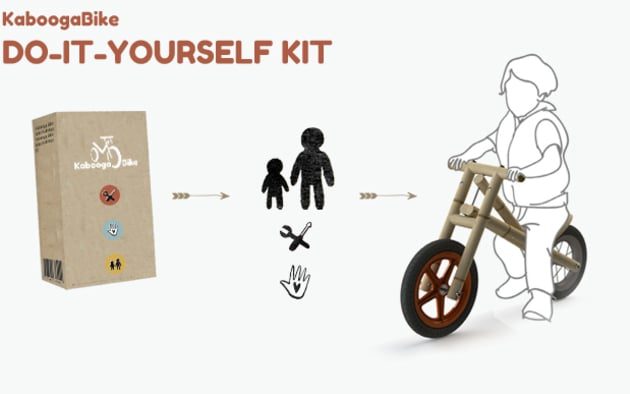 Oneplanetcrowd bamboo balance bike natural and sustainable diy simple manual explains how and suggests fun and educational activities you can do with your child during the building kaboogabike diy kit contains solutioingenieria Images