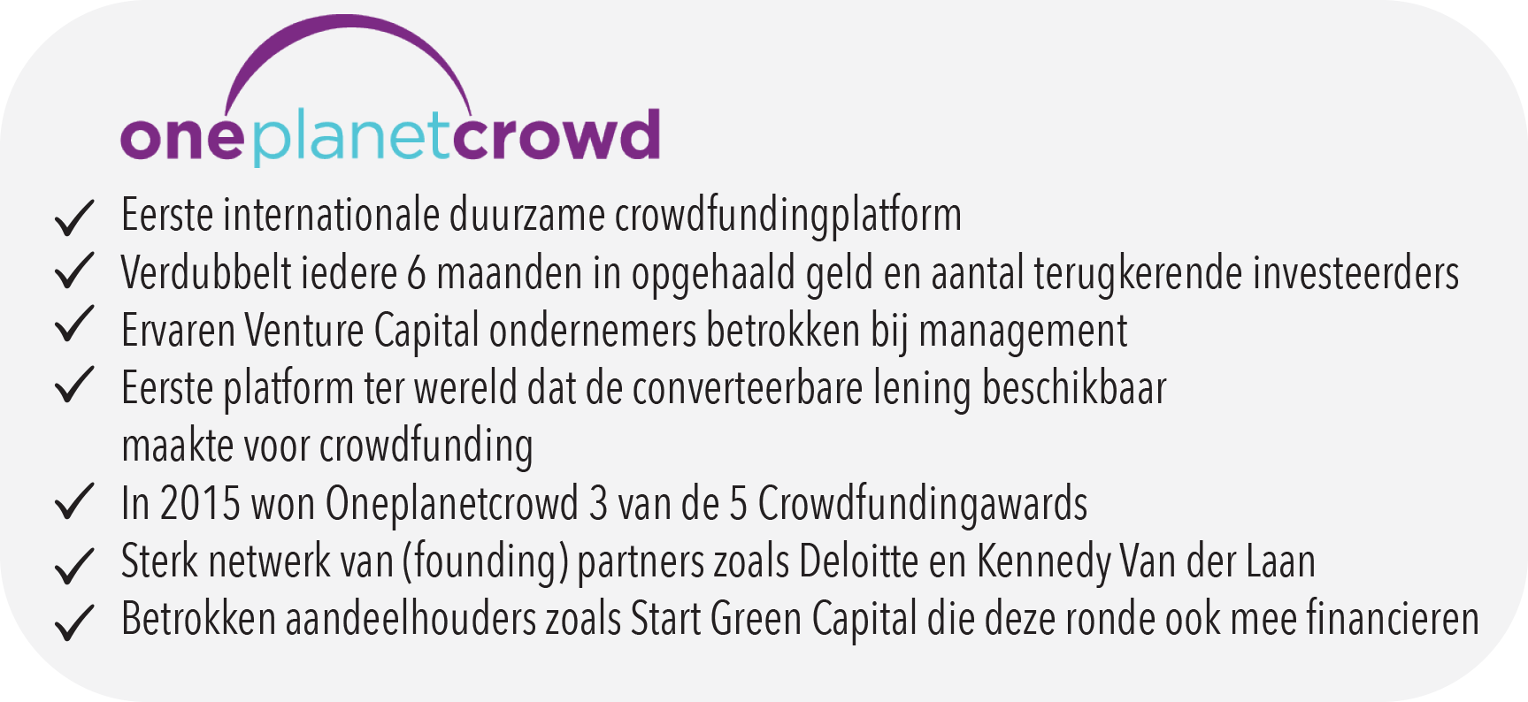 Oneplanetcrowd facts