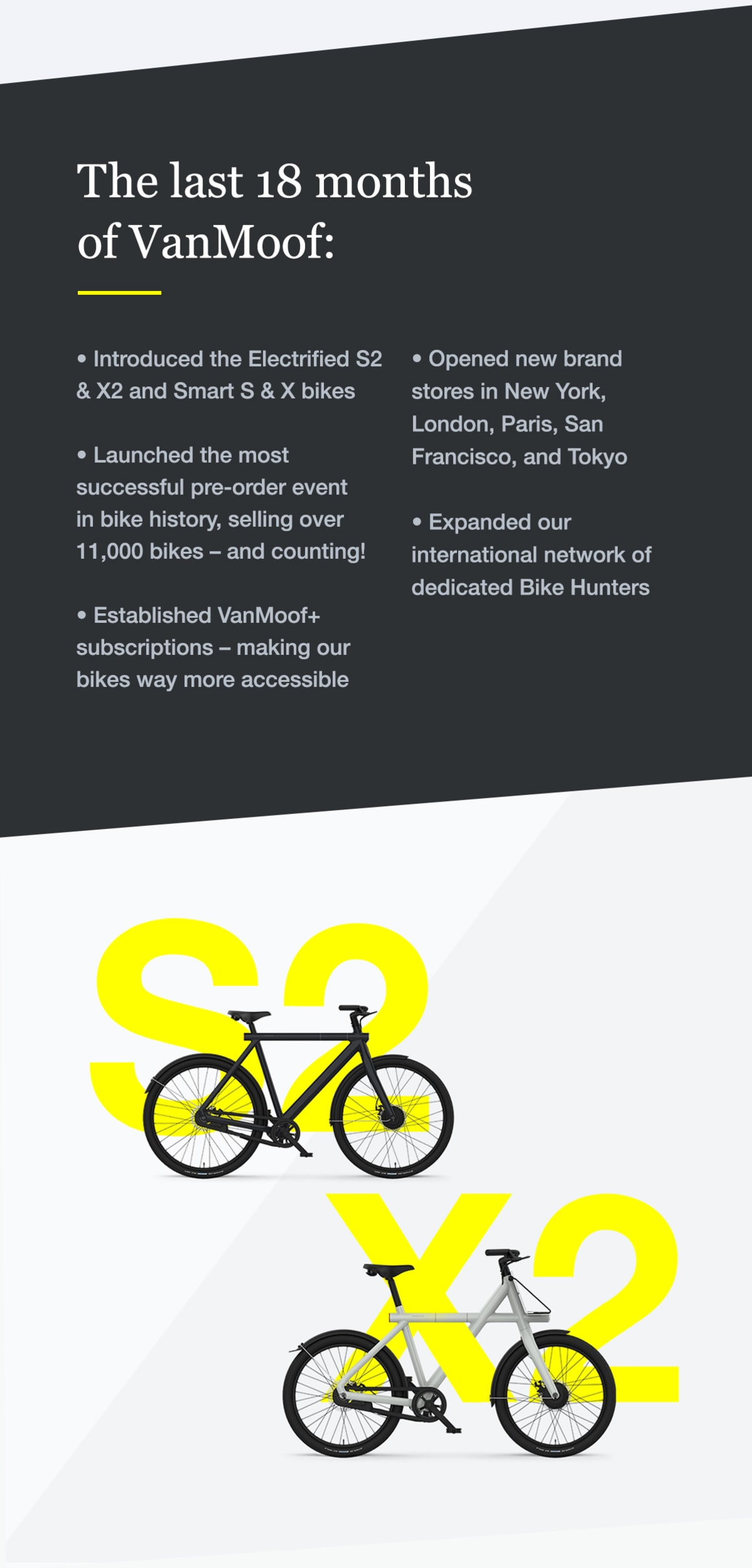 Top Five Vanmoof Electrified S2 And X2 – Ride The City - Circus