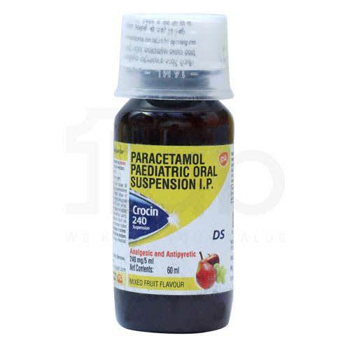 Crocin 240 DS Syrup Mix Fruit Flavour