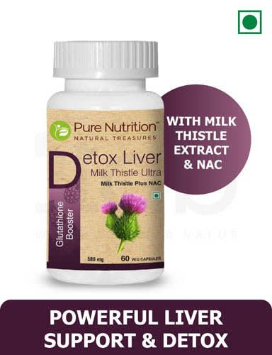 Pure Nutrition Detox Liver Milk Thistle Ultra Veg Capsule