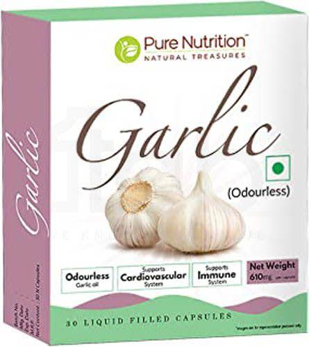 Pure Nutrition Garlic Liquid Filled (Odourless) Capsule