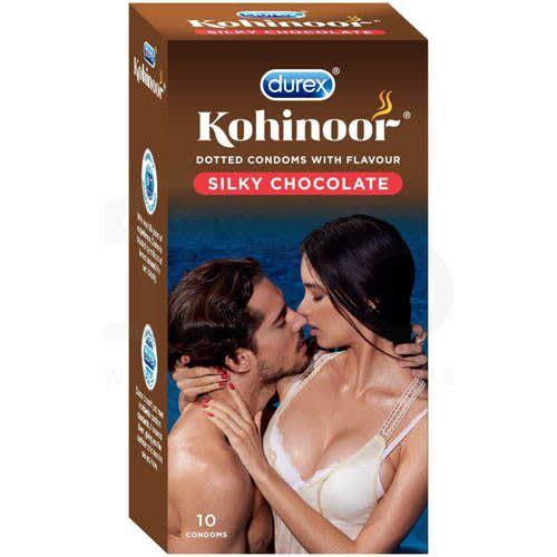 Durex Kohinoor Condom Silky Chocolate 10'S