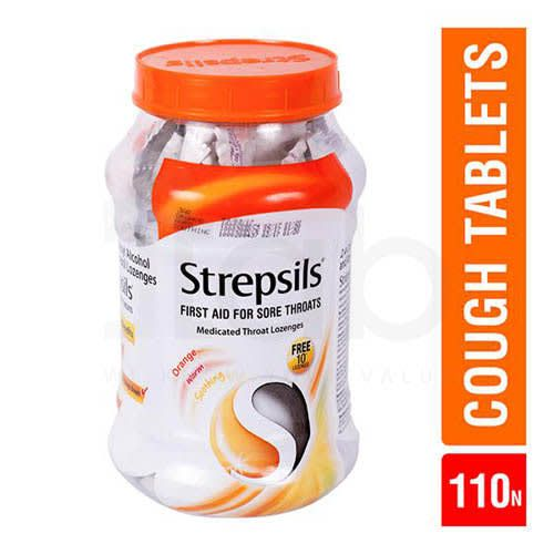 Strepsils Lozenges Orange 100'S