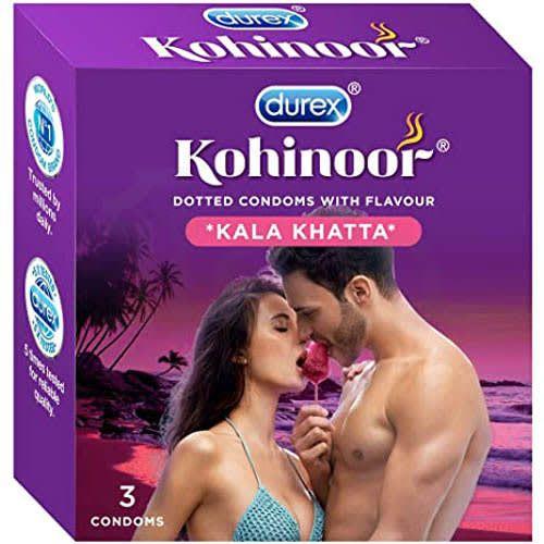 Durex Kohinoor Condom Kala Khatta 3'S